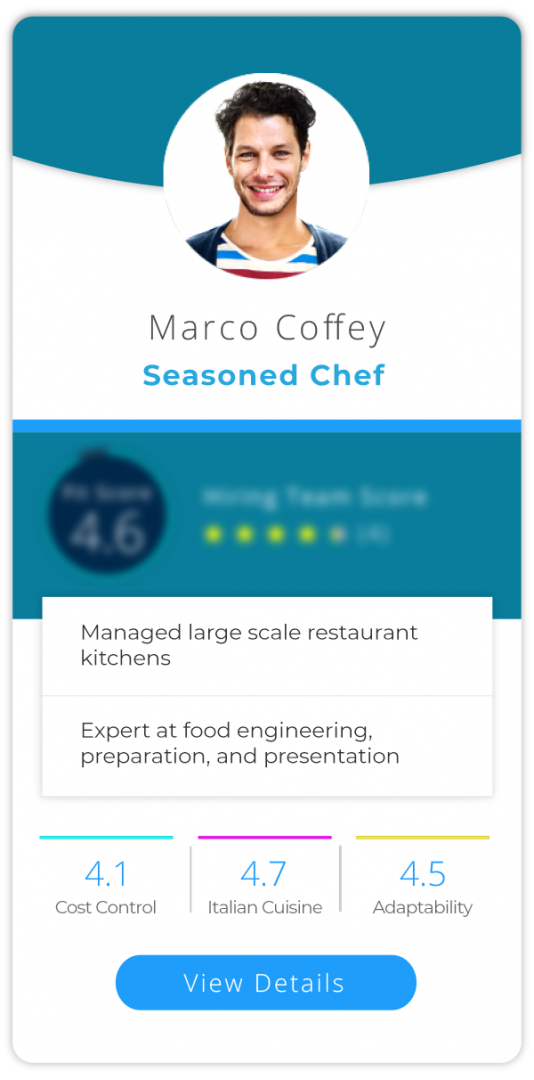 Profile 1 - Seasoned Chef