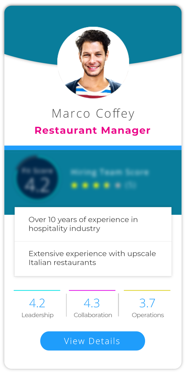 Profile 2 - Restaurant Manager