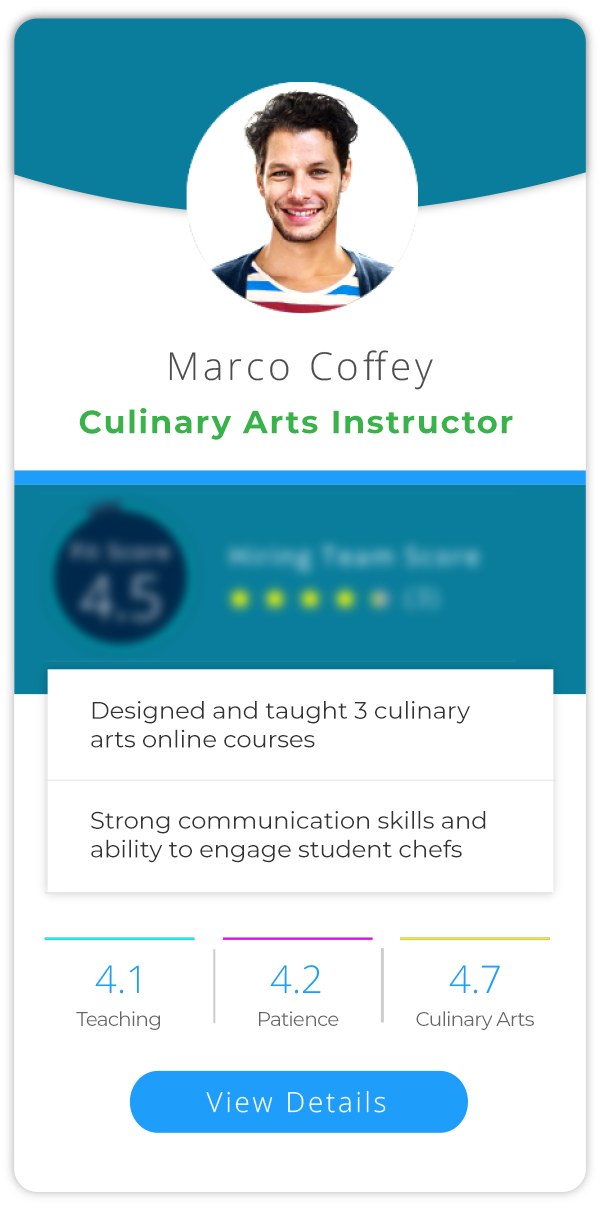Profile 3 - Culinary Arts Instructor